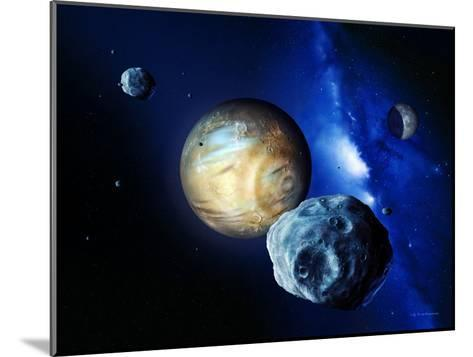 Pluto And Charon And Kuiper Belt-Detlev Van Ravenswaay-Mounted Photographic Print