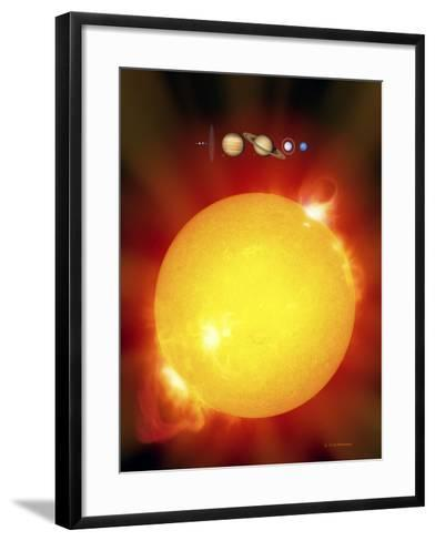 Sun And Its Planets-Detlev Van Ravenswaay-Framed Art Print