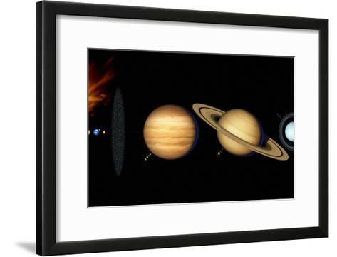 Sun And Its Planets-Detlev Van Ravenswaay-Framed Art Print