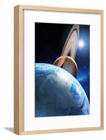 Alien Planetary System-Detlev Van Ravenswaay-Framed Art Print
