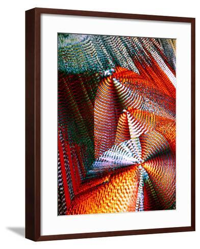 Copper Sulphate Crystals, LM-Dr. Keith Wheeler-Framed Art Print