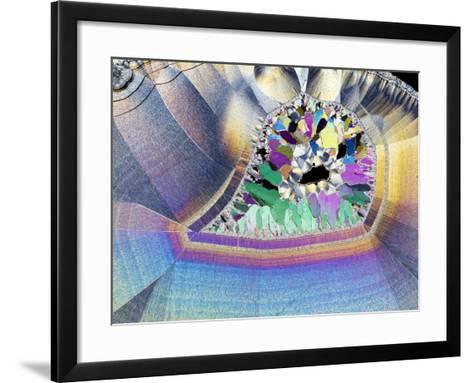 Geode In Thin Section-Dirk Wiersma-Framed Art Print