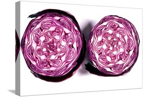 Halved Red Cabbage-Dr. Keith Wheeler-Stretched Canvas Print