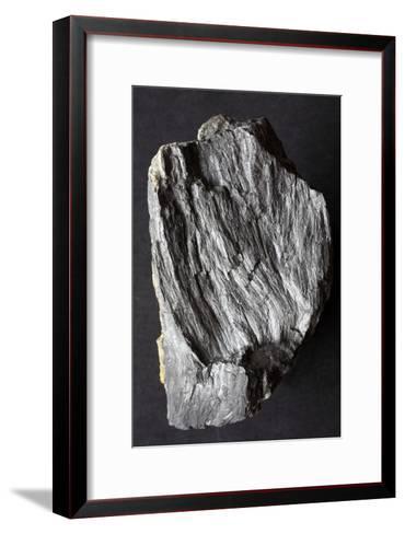 Jamesonite Mineral Sample-Dirk Wiersma-Framed Art Print