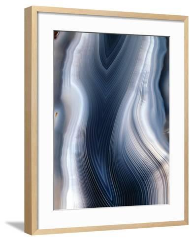 Concentric Banding In Agate-Dirk Wiersma-Framed Art Print