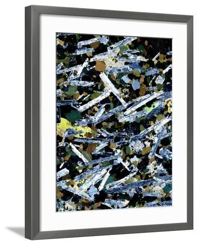 Plutonic Rock, Light Micrograph-Dirk Wiersma-Framed Art Print