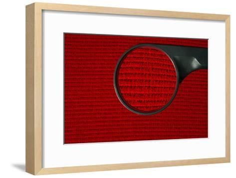 Corduroy Under a Magnifying Glass-Linda Wright-Framed Art Print