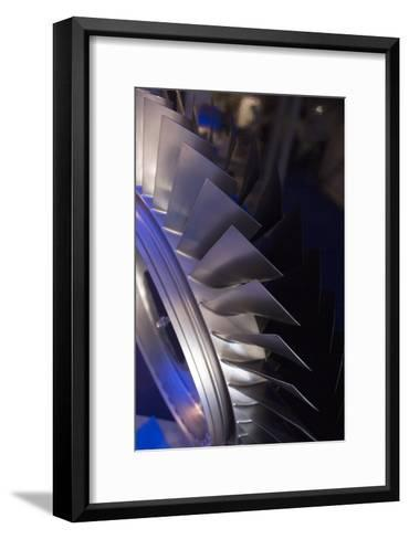 Aircraft Engine Fan Blades.-Mark Williamson-Framed Art Print