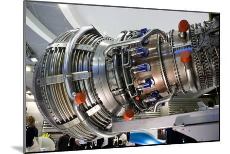 Aircraft Engine on Display.-Mark Williamson-Mounted Photographic Print