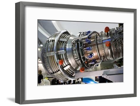 Aircraft Engine on Display.-Mark Williamson-Framed Art Print