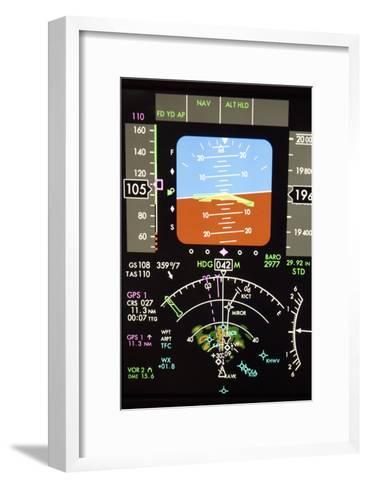 Aeroplane Control Panel Display-Mark Williamson-Framed Art Print