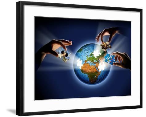 Learning About the Earth, Artwork-SMETEK-Framed Art Print