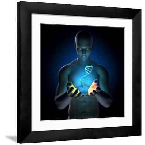Genetic Research, Conceptual Artwork-SCIEPRO-Framed Art Print