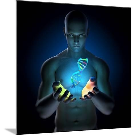 Genetic Research, Conceptual Artwork-SCIEPRO-Mounted Photographic Print
