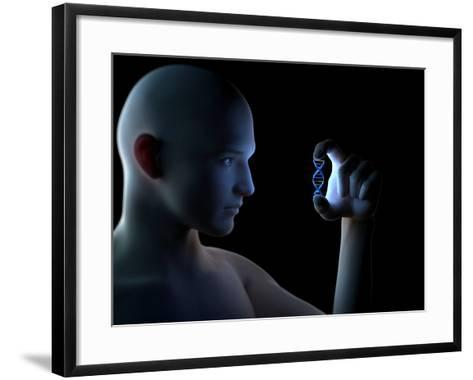 Genetic Research, Conceptual Artwork-SCIEPRO-Framed Art Print