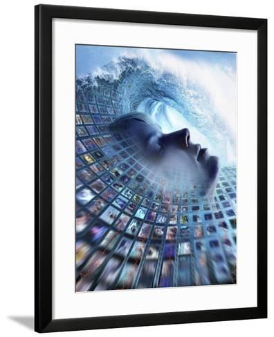 Information Overload, Conceptual Image-SMETEK-Framed Art Print