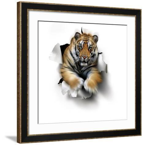 Tiger, Artwork-SMETEK-Framed Art Print