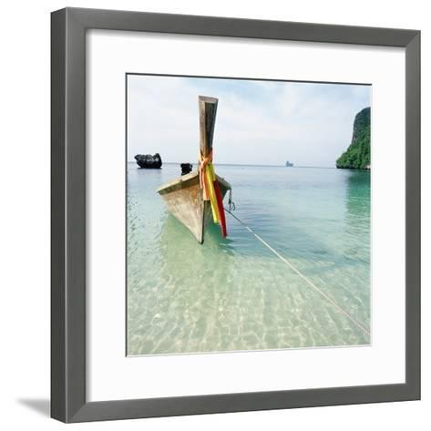Traditional long tail boat, Thailand--Framed Art Print