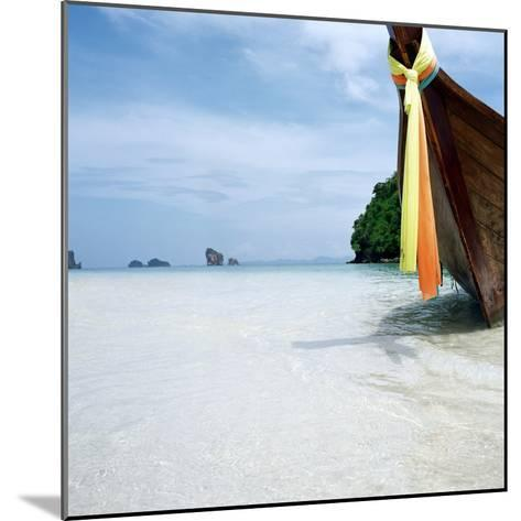 Traditional long tail boat, Thailand--Mounted Photographic Print