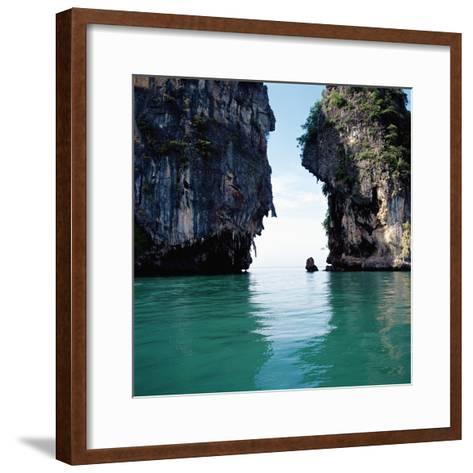 Thai coastline--Framed Art Print