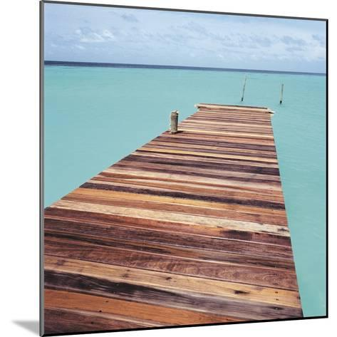 Wooden jetty leading out to sea--Mounted Photographic Print