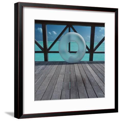 Inflatable rubber ring--Framed Art Print