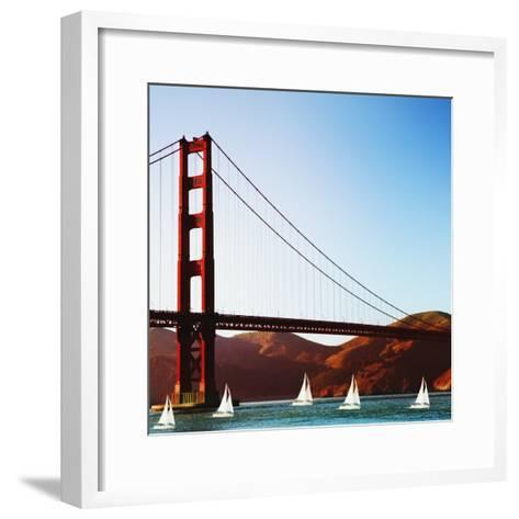 Golden Gate Bridge-JoSon-Framed Art Print