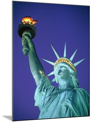 Statue of Liberty in New York City at dusk-Alan Schein-Mounted Photographic Print