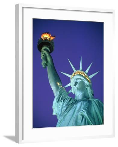Statue of Liberty in New York City at dusk-Alan Schein-Framed Art Print