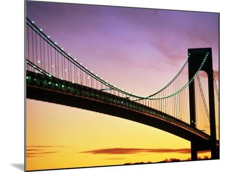 Verrazano Narrows Bridge at Dusk-Alan Schein-Mounted Photographic Print