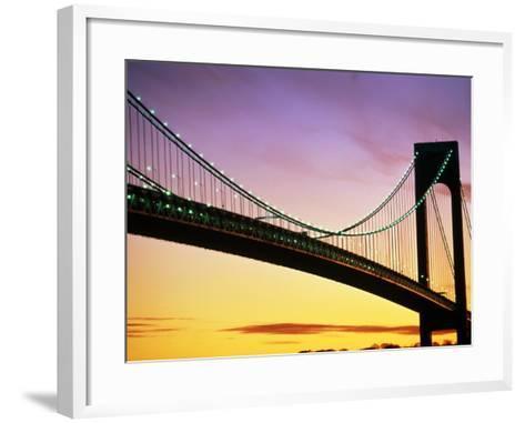 Verrazano Narrows Bridge at Dusk-Alan Schein-Framed Art Print