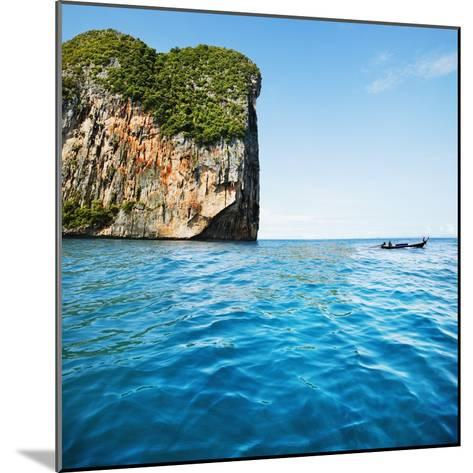 Phang-Nga Bay Island with Mountains-JoSon-Mounted Photographic Print