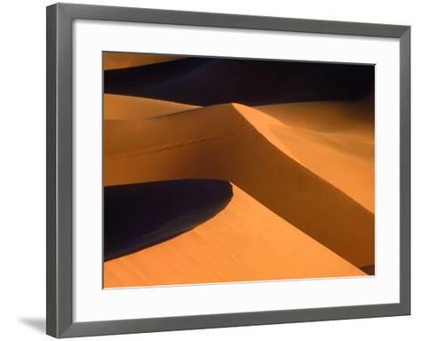 Dunes, Namib desert, Namibia-Frank Krahmer-Framed Art Print