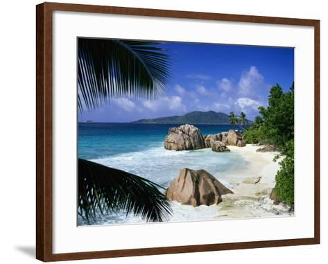 Surf Splashing on Beach-David Ball-Framed Art Print