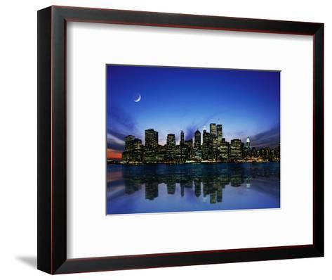 Manhattan Skyline and Reflection-Bill Ross-Framed Art Print