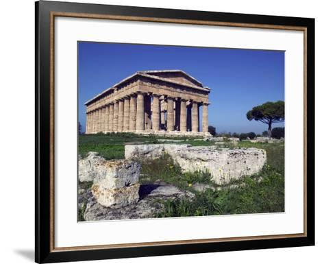 Ruins of the Temple of Neptune-Marco Cristofori-Framed Art Print