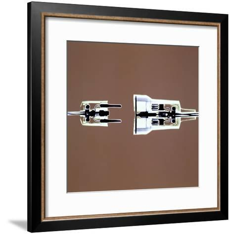 Cross-section of Electrical Plug--Framed Art Print