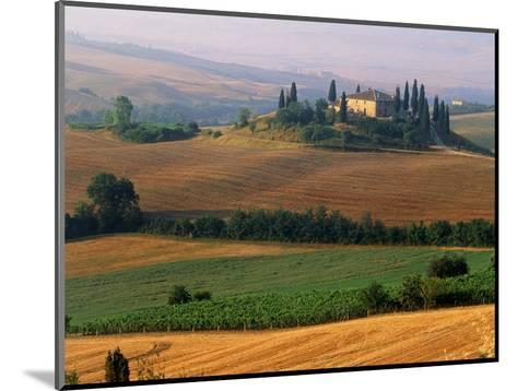 Italy, Tuscany, Val d'Orcia, fields at sunrise-Sergio Pitamitz-Mounted Photographic Print