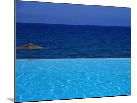Blue of Pool, Sky and Sea--Mounted Photographic Print