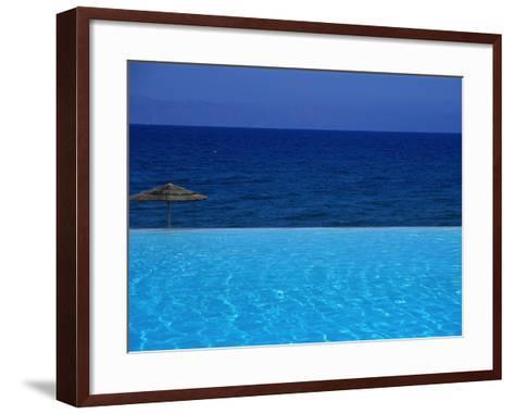 Blue of Pool, Sky and Sea--Framed Art Print