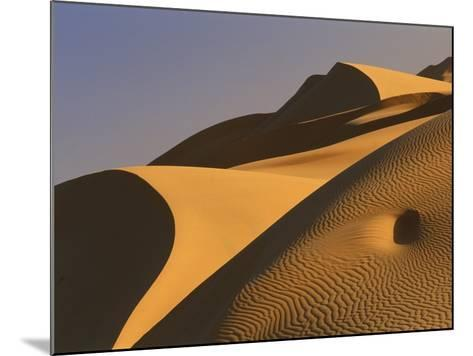 Sand dunes (Timimoun, Grand Erg, Gourara Valley, Sahara Desert, Algeria)-Frans Lemmens-Mounted Photographic Print