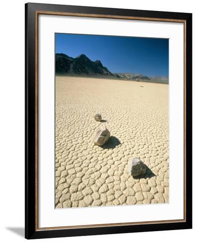 Dried clay, Death Valley, Nevada, USA-Frank Lukasseck-Framed Art Print