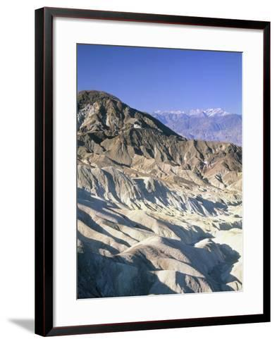 Badlands, Zabriskie Point, Death Valley, USA-Frank Lukasseck-Framed Art Print