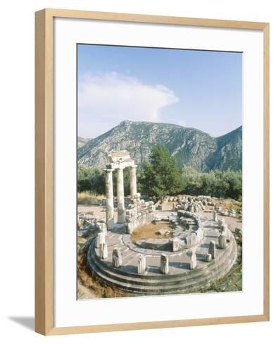 Tholos of the Athena Pronaia in Delphi, Greece-Rainer Hackenberg-Framed Art Print