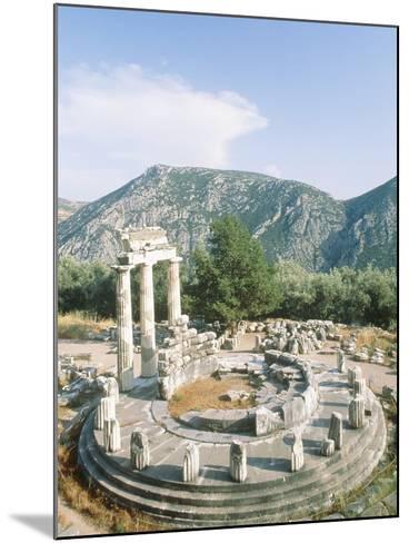 Tholos of the Athena Pronaia in Delphi, Greece-Rainer Hackenberg-Mounted Photographic Print