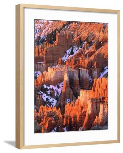 USA, Utah, Bryce Canyon with snow-Theo Allofs-Framed Art Print