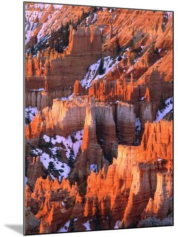 USA, Utah, Bryce Canyon with snow-Theo Allofs-Mounted Photographic Print
