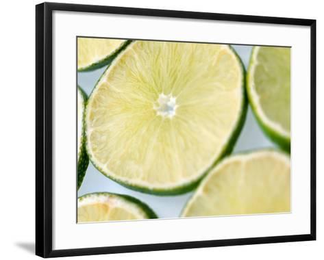 Limes in slices--Framed Art Print