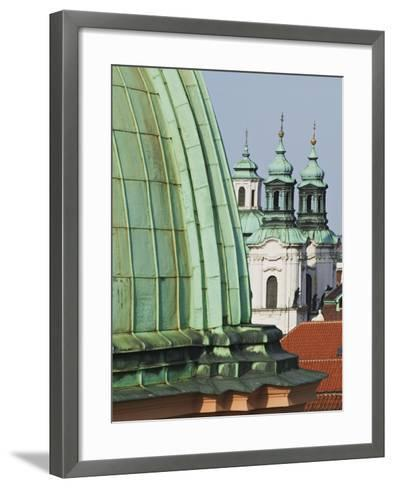 Church Dome and Bell Towers in Prague-William Manning-Framed Art Print