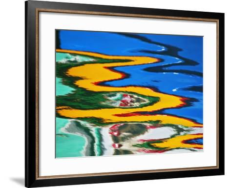 Colors Reflected in Ripples in Canal-William Manning-Framed Art Print